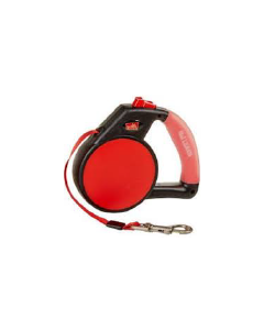 Gel Handle Reflective Tape Retractable Leash Medium Red