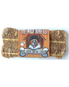 The Wild Bone Compay Elk Bone Feast Biscuit Dog Treat 1oz