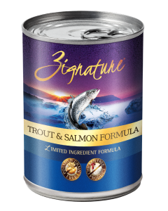Zignature Trout Salmon Dog Food Canned 13oz