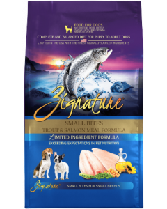 Zignature Trout Salmon Small Bite Dog Food Dry 13.5lb