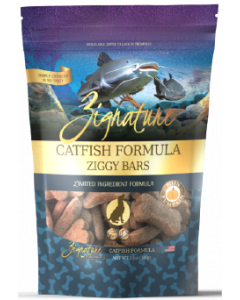 Zignature Ziggy Bars Treats Catfish Dog Treat 12oz