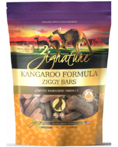 Zignature Ziggy Bars Treats Kangaroo Dog Treat 12oz