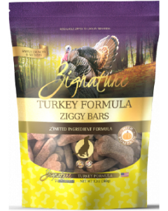 Zignature Ziggy Bars Treats Turkey Dog Treat 12oz