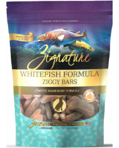 Zignature Ziggy Bars Treats White Fish Dog Treat 12oz