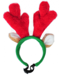 Zippy Paws Small Holiday Dog Antlers
