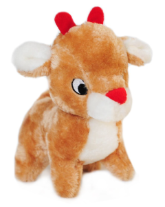 Zippy Paws Deluxe Reindeer Holiday Dog Toy