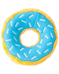 Zippy Paws Blueberry Glazed White Donut Dog Toy