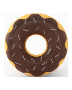 Zippy Paws Tuff Donutz Chocolate Dog Toy