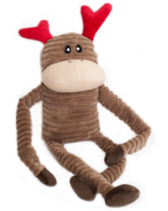 Zippy Paws Small Crinkle Reindeer Holiday Dog Toy