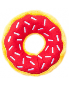 Zippy Paws Cherry Donut Holiday Dog Toy