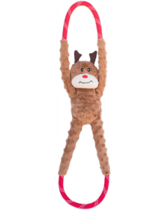 Zippy Paws Reindeer Ropetugz Holiday Dog Toy