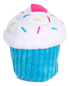 Zippy Paws Cupcake Blue Dog Toy