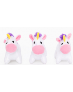 Zippy Paws 3 pack Burrow Unicorn Refill Dog Toy