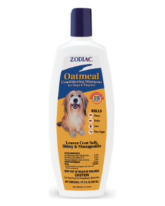 Zodiac 18oz Oatmeal Shampoo for Dogs or Puppies