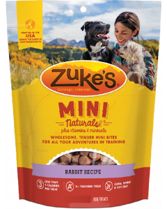 Zuke's Mini Naturals Rabbit Dog Treat 6oz